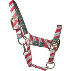 Peppermint Stick / Santa Christmas Horse Halter - Red Haute Horse Halters
