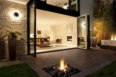 would love sliding glass doors like this!