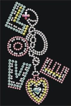 CRYYH1928 Love Chain Rhinestone Transfer