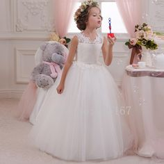 Cheap Flower Girl Dresses, Buy Directly from China Suppliers:Cute Charming flower girl Dresses 2015 Girls Pageant Dresses beading Sleeveless Tank Girls Dress in first communion CGF0
