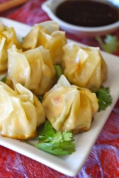 Garlic Ginger Chicken Dumpling Recipe (Momo) - Juicy chicken, flavorful vegetables and aromatic garlic and ginger in every bite! The perfect hors d'oeuvres or appetizer that you won't be able to stop eating! Asian Recipes, Healthy Recipes, Ethnic Recipes, Indonesian Recipes, Orange Recipes, Garlic Ginger Chicken, Dumpling Recipe, Momos Recipe, Chicken And Dumplings