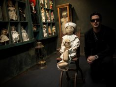 Ghost Adventures: Zak Bagans with Robert the haunted doll.