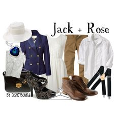 Jack + Rose, created by lalakay on Polyvore #titanic, I'm so wearing this on saturday!