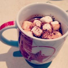 Crockpot hot cocoa. Inspired by a pin I pinned earlier but adjusted the recipe.