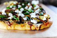 Grilled Veggie with pesto pizza!