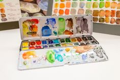 The Wet Paint Limited Edition Schmincke Horadam Watercolor Half Pan Set- this is Liz' personal set so it has been getting some good use!