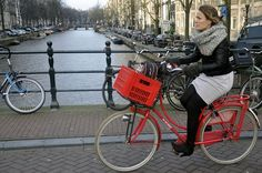 Red Dutch bike - Amsterdam Cycle Chic by Aude by amsterdamcyclechic, via Flickr