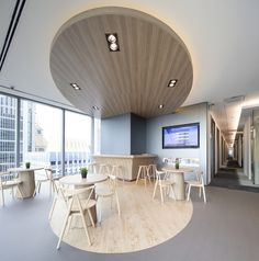 office design of JustOffice's Asia Square serviced office location in Singapore.