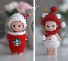 스타벅스 크리스마스 MD 데미머그 뜨개옷 : 네이버 블로그 cute sonnyangel  blog.naver.com/gblessy