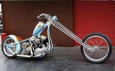 """Gold Digger Chopper By Jesse James Published by Cyril Huze November 2007 in Builders, Customs and Editorial. """"Here one chopper I like very Custom Baggers, Custom Choppers, Custom Harleys, Custom Motorcycles, Custom Bikes, Chopper Motorcycle, Bobber Chopper, Motorcycle Style, Choppers Personalizadas"""