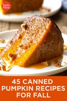 66 Fall Recipes That Use Canned Pumpkin It's the season of pumpkin! 66 Fall Recipes That Use Canned Pumpkin It's the season of pumpkin! Köstliche Desserts, Delicious Desserts, Dessert Recipes, Recipes Dinner, Breakfast Recipes, Canned Pumpkin Recipes, Sweet Pumpkin Recipes, Caramel Pecan, Fall Baking
