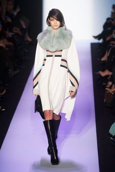 """BCBG Max Azria - """"...a statement on both the return of luxury as well as global warming."""" Nice one, Bazaar."""
