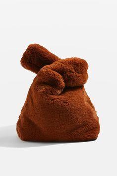 DOLLY Faux Fur Small Grab Tote Bag