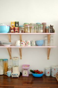 13 Kickin' Kitchens That Rock Open Shelving via Brit + Co.