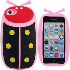 WwWSuppliers Cute 3D Pink & Black Ladybug Case for Apple iPhone 5 5S 5C Strong Silicone Case + Free Screen Protector WwWSuppliers http://www.amazon.com/dp/B00MH7K0DG/ref=cm_sw_r_pi_dp_ZMCNvb0STTK77