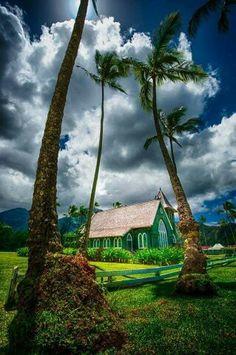 a very quaint little church in Hanalei on the island of Kauai, Hawaii Kauai Hawaii, Maui, Hanalei Kauai, Mahalo Hawaii, Hawaii Travel, Kauai Vacation, Vacation Mood, Hawaii Life, Foto Nature