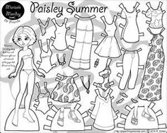 printable black and white paper dolls - Bing images