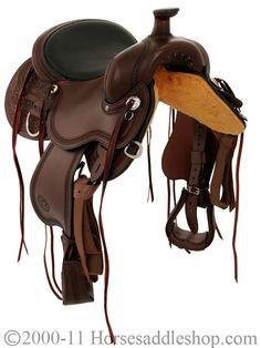 Back view of Circle Y Flex 2 saddle