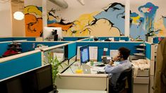 Because Outbrain is based in New York, its conference rooms are inspired by something else definitively New York — Seinfeld — and each room has a central piece of modern artwork.