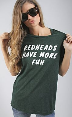 friday + saturday: redheads have more fun t shirt
