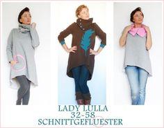 EBOOK Lady Lulla Kleid Pulli Vokuhila   Lady Lulla Ist Ein Lockerer  Vokuhilaschnitt, Der In A   Linie Geschnitten Ist. Im Schnitt Enthalten 2  Längen,eine ...