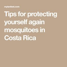 Tips for protecting yourself again mosquitoes in Costa Rica