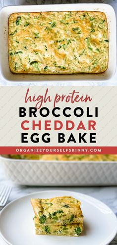 This Broccoli Egg Bake is a high protein, low carb breakfast recipe perfect for meal prep or serving a crowd. Making an egg bake is one of my favorite ways to meal prep breakfast for the week. It's easy to throw together using whatever ingredients you have on hand, and it reheats perfectly for a quick, tasty breakfast. Organize Yourself Skinny Healthy Meal Prep Recipes   Healthy Breakfast Recipes Healthy Freezer Meals, Healthy Meals For Two, Healthy Eating Recipes, Healthy Meal Prep, Keto Meal, Healthy Baking, Healthy Foods To Eat, Healthy Low Carb Dinners, Low Carb Dinner Recipes