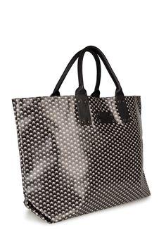 STEPHANE VERDINO gemusterte Shopper - weiß/grau/schwarz - MONDIALmode