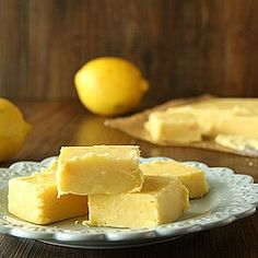 Creamy Lemon Fudge perfect dessert for summer