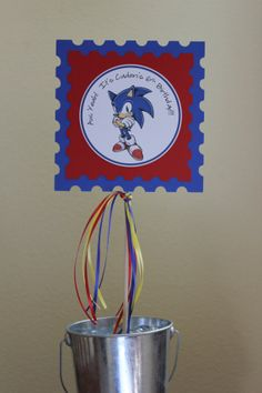 Sonic The Hedgehog Inspired Party - Personalized - Centerpiece - Red - Blue - Yellow - Party Decorations