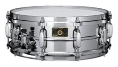 "SC145: Stewart Copeland's signature model is a faithful reproduction of the snare drum of ""mysterious provenance"" that he used with the Police and everything else from that time period. A brass shell that's 0.5mm thicker than the standard 1mm shell and the combination of a die-cast batter hoop with a triple flanged bottom hoop provides sounds that easily penetrate what Copeland describes as the ""dirge from the bass and the ear-piecing sounds of a guitar."""