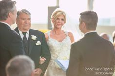 wedding ceremony, ceremony candids, father of the bride, beautiful bride, golden lighting, bright, happy ceremony, wedding photographer, ATL photographer :: Jamel + Russell's Wedding at The PeachTree Club in Atlanta, GA :: with Tyler