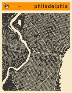 Poster | PHILADELPHIA MAP von Jazzberry Blue | more posters at http://moreposter.de