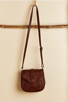 302776cff5 Dark Brown Faux Leather Crossbody Purse - Earthbound Trading Co. Small  Crossbody Purse