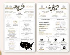 Printable Infographic wedding program customizable