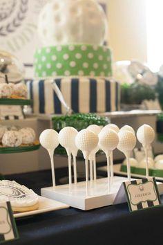 Daddy's Little Caddy themed baby shower via Kara's Party Ideas KarasPartyIdeas.com Printables, cake, tutorials, decor, invitation, tutorials, desserts, and more! #golf #golfparty #golfbabyshower #boybabyshower (18)