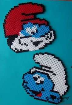 Pitufos - Smurfs hama beads by ILUSIONES SCRAP