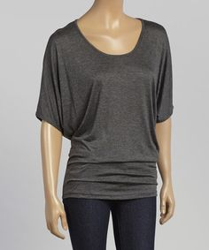 Love this Gray Dolman Top by Casa Lee on #zulily! #zulilyfinds