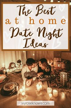 The Best At Home Date Night Ideas So many good ideas for a fun and cozy at home date night! Creative Date Night Ideas, Romantic Date Night Ideas, Romantic Dates, Home Date Night Ideas, Romantic Gifts, Romantic Surprise, Romantic Evening, Date Night In, Best Relationship Advice