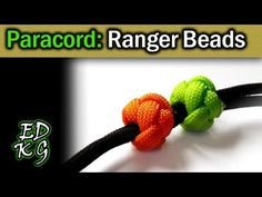 Simple Paracord: Ranger Beads (using Celtic Button Knot) - YouTube
