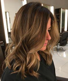 Light Brown Balayage Hair Dark Brown Hair With Blonde Highlights, Brown Ombre Hair, Ombre Hair Color, Light Brown Hair, Light Hair, Brown Hair Colors, Hair Highlights, Peekaboo Highlights, Purple Highlights