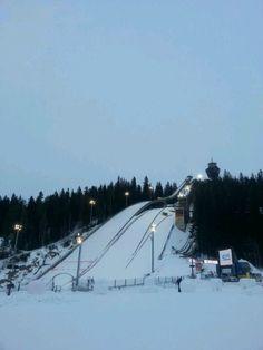 Ski jumping in Kuopio Finland