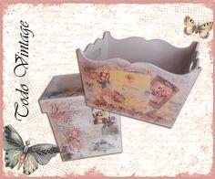cajas vintage Magazine Rack, Vintage, Home Decor, Boxes, Decorative Boxes, Manualidades, Decoration Home, Room Decor, Interior Design