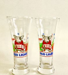 2019 Fashion Budweiser-1984 Summer Olympics-footed Pilsner Glasses-set Of Four-official Logo Special Summer Sale Fan Apparel & Souvenirs