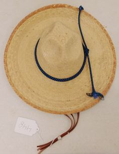 Old Mexican Sombrero Plant Fibres, See Images, Panama Hat, 1970s, Stitches, Larger, Fiber, Mexico