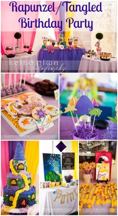 Wait until you see this gorgeous Rapunzel/Tangled girl birthday party, including the Rapunzel birthday cake! See more party ideas at CatchMyParty.com. #rapunzel #girlbirthday