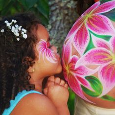Such a cute idea to paint a similar design on the face of the sibling(s) :)