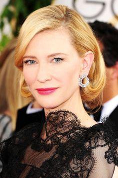 Cate Blanchett. #casamento #penteados #convidadas #famosas #GlobosdeOuro2014