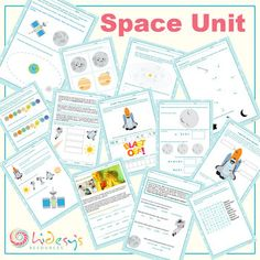Early Learner Space / Astronomy Unit Worksheets-Space week