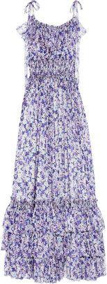 ShopStyle: D Floral-print silk-chiffon maxi dress